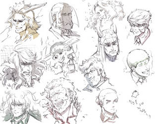 fav characters faces by Guelime