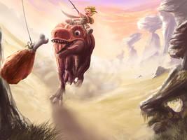 Dino riding by RhexFiremind