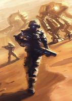 desert walk by RhexFiremind