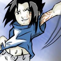 Sasuke is swingin' by Blueyedblonde