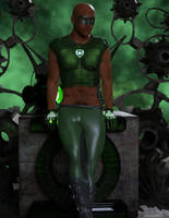 Fantasy-Pin-up The-Next-Green-Lantern by anteros70118