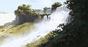 Waterfall study by zherebinix