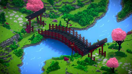 Japanese Voxel Garden by Kyan0s