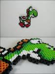 Super Mario World Yoshi bead sprite by 8bitcraft