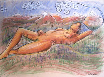 Figure Drawing: MOTHER EARTH by lauraneato1
