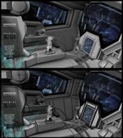 Gundam 00 Exia Cockpit by fldizayn