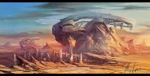 city desert concept by neisbeis
