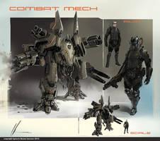 Combat Mech concept by neisbeis