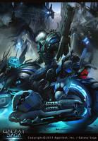 Blue Flashy Rider by neisbeis