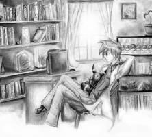 Gary Oak -  Study Break by The-Legendaerie-LT
