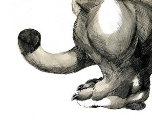 Mukaitch Footpaw  Tail (2015 Replacement Scan) (2 by Eensy-Speck-Werewuff