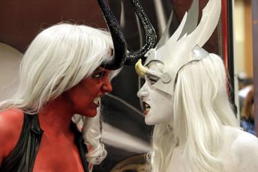 Lady Demon Vs Lady Death by LadyLestat88