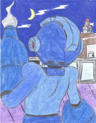 Blue Bomber Returns by Goldie-P2Luigi