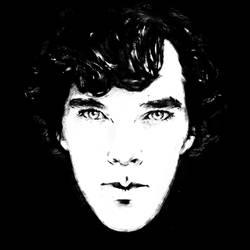 Sherlock b/w by br0-Harry