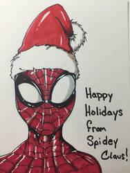 Spidey Claus Sketch by JasonMarten