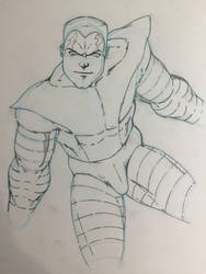 Colossus Holiday Art Swap 2015 WIP by JasonMarten