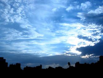 Across the big blue sky by aeremita