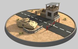 Roadblock - Iraq by cr8g