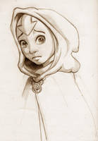 Aang the Avatar sketch by AmiraElizabeth
