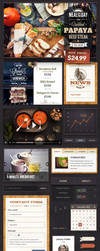Restaurant UI Kit by sandracz