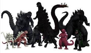 Godzilla Groupshot by Vrahno