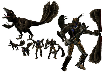 Feathered Beast Wars Dinobot 3D Model by Vrahno