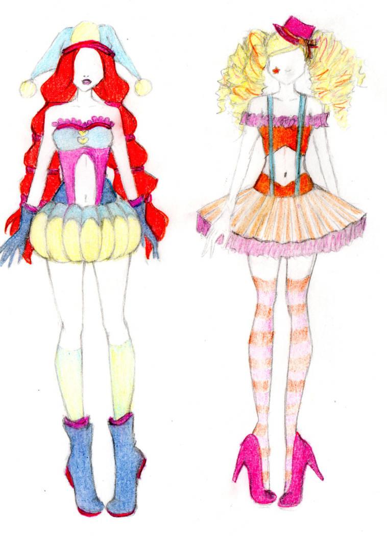 Winx Clown clown transformation - Bloom and Stella by mackyca