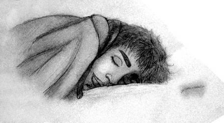 Sleeping Juxty by YellowLemoned