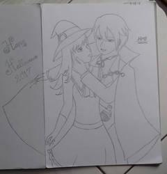 Happy Halloween Allen x Rachel from HM ANB by SeikoHime