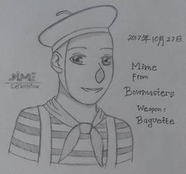 Bowmasters Sketch - Mime by SeikoHime