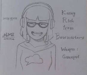 Bowmasters Sketch - Kacey Rich by SeikoHime