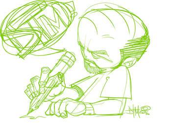 I Like To Draw wip by dacreativegenius