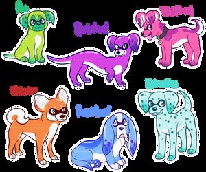 Inkpup Adopts (1/6 open) by Amberlea-draws