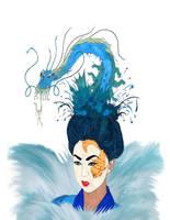 Goddess Geisha of the Sea: Otohime by Kyramoonunique