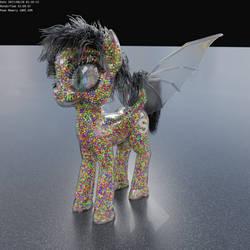 Literal Skittles Pony by beetdabrat