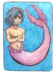 [AT] - The Little Pink Merman by Lupizora