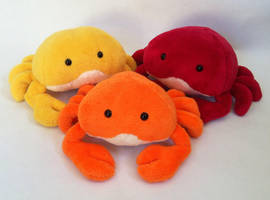 Crab plushies~! by SewnRiver