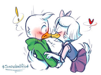 sometimes you just need a smooch- by Snowballflo