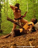 Bow Hunter Norakah vs Orinion by LastDarkNight