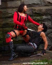Nina Blade vs Jin and Dutch 4 by LastDarkNight