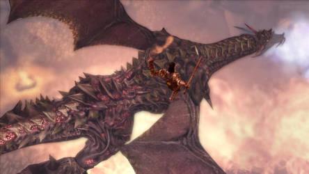 DAO Riordan attacks the Archdemon by SPARTAN22294