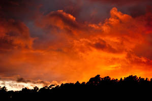 burning sky by Petunia-Tanglewood