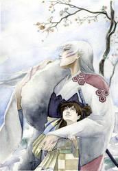 Sesshomaru and Rin by airasan