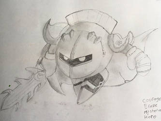 Drawing of Meta Knight by Swiftsunset01