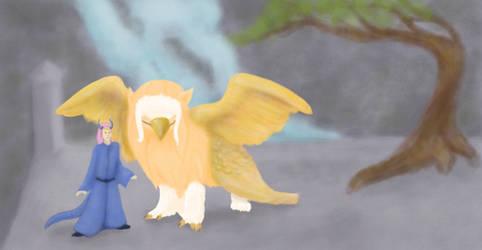 Phoenix and Dragon by kittensune