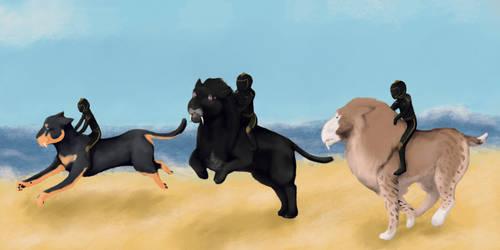 Freewill: Saber, Zaki + Aido by kittensune