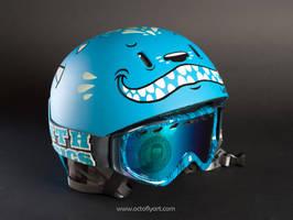The blue helmet by OctoflyArt