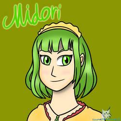 Contest Prize - Midori Headshot by KizunaDragonWolf
