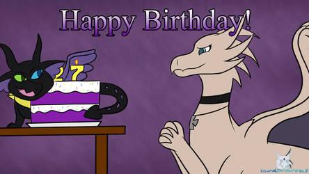 Birthday Gift - TheLeatherDragonI by KizunaDragonWolf