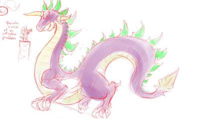 Elder Dragon Spike by PtolemaiosLS